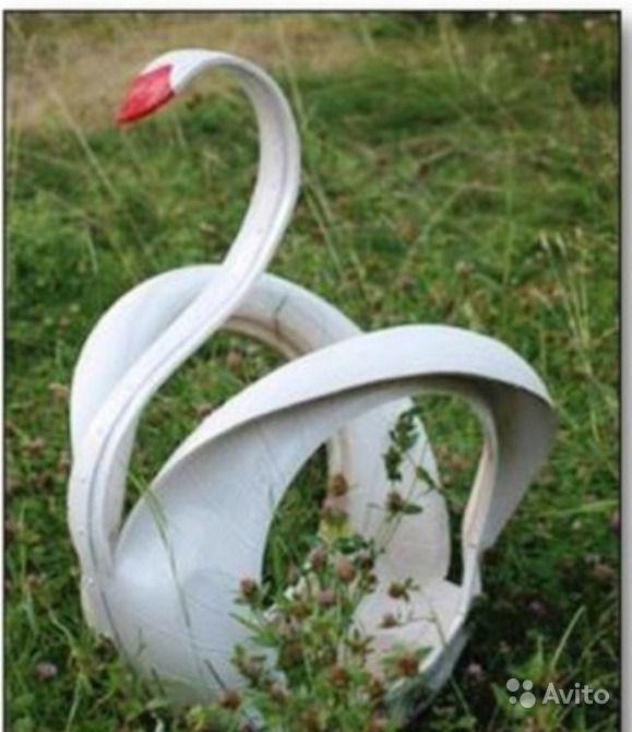 Фото и схема лебедя из покрышки