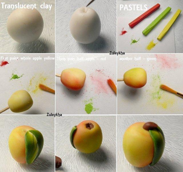 Мастер класс яблоня из полимерно глины
