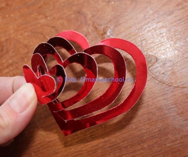 Оригинальная валентинка из бумаги своими руками