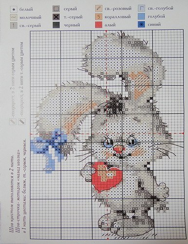 Вышивка крестом схема зайца 90
