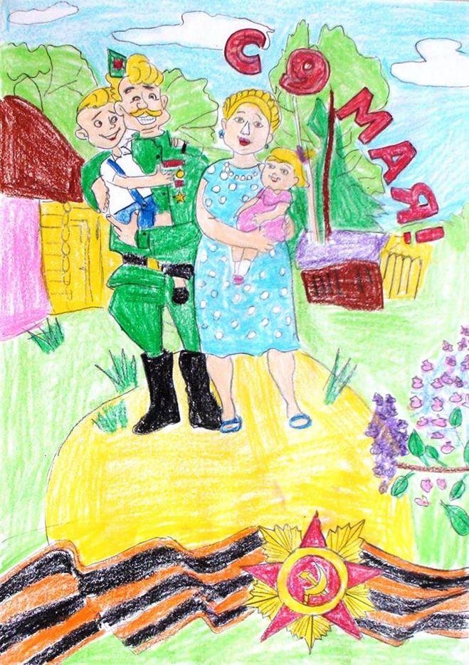 Рисунок в сад на тему мама