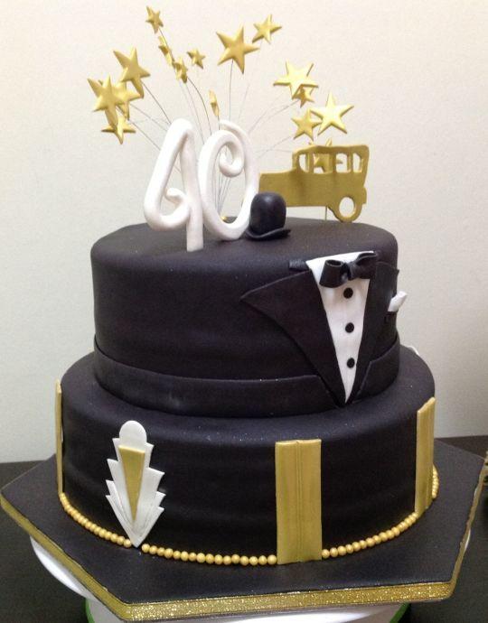 украсить торт 40 лет мужчине