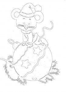 вытынанки крыса, мышь, шаблоны вытынанок