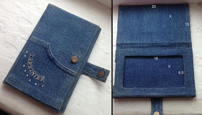 Как сшить из старых джинсов чехол 18