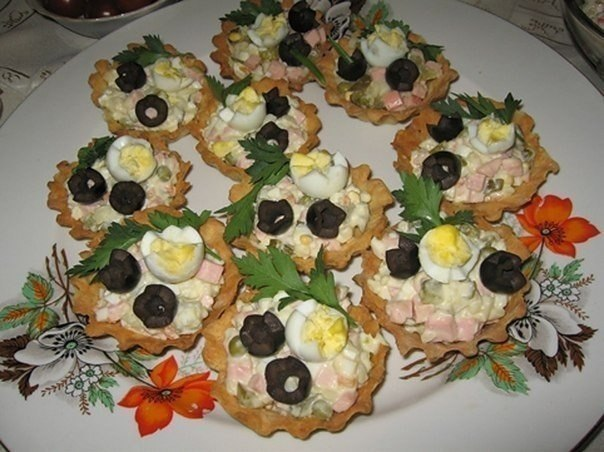салаты для тарталеток с фото