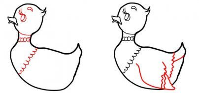 Как нарисовать Серую Шейку.