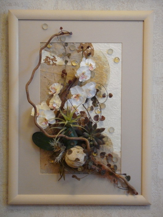 Картина с сухими цветами своими руками