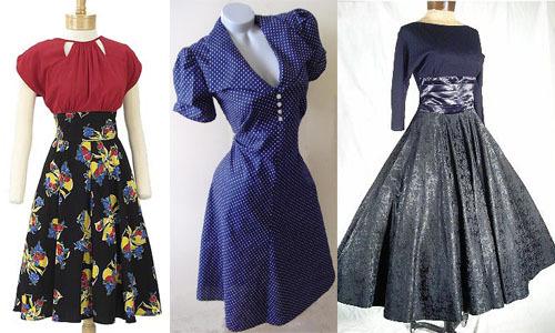 Мода 40 х годов платья женские