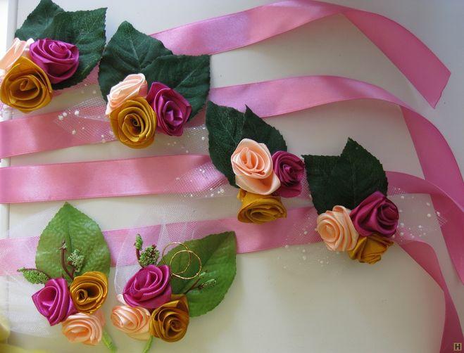 Сделать браслет из искусственных цветов своими руками