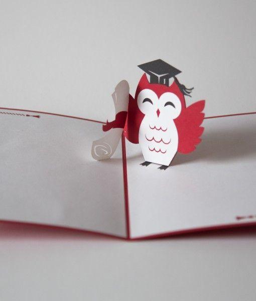 объемная открытка с совой