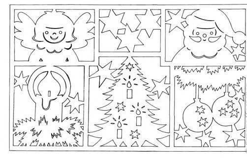 рисунки на окна в Новый год
