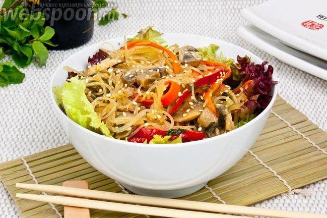 рецепт китайская крахмальная лапша с мясом