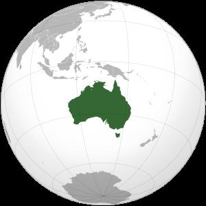 На каком материке находится австралия