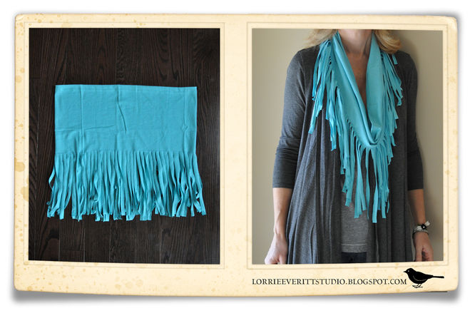 Дизайнерский шарф своими руками 36