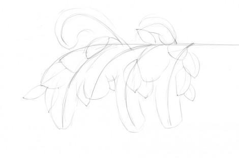Как рисовать поэтапно черёмуху