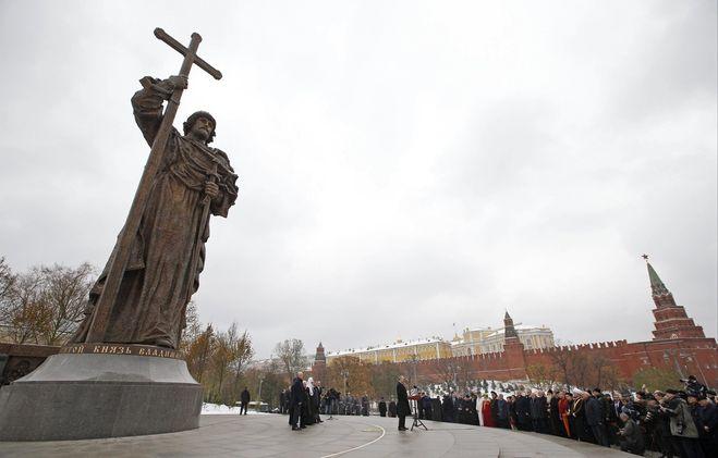 Путин открыл памятник князю Владимиру в Москве. Что сказал? Фото памятника?