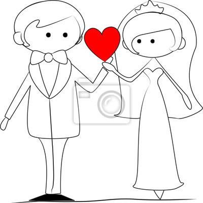 Как нарисовать на свадьбу рисунок