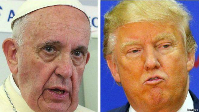 Дональд Трамп и Папа римский Франциск