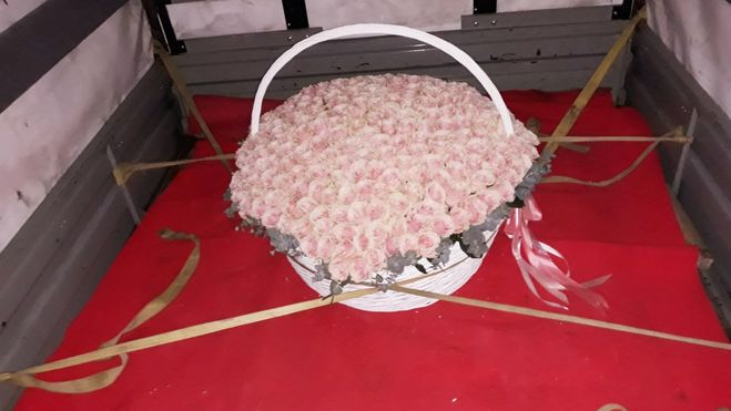 Корзина цветов в Газели?