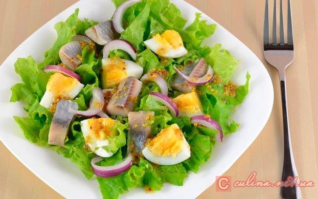 Рецепт салатов с сельдью