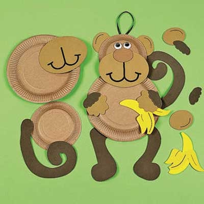 Как сделать из бумаги обезьяну своими руками
