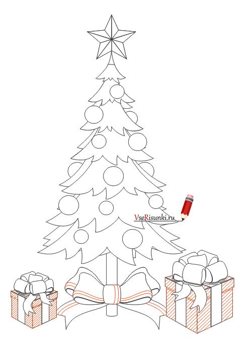Как нарисовать праздник на новый год
