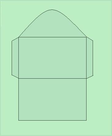 как сделать длинный вертикальный конверт