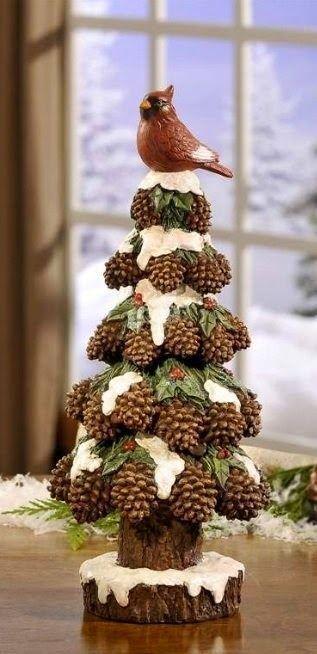 красивые елки из шишек