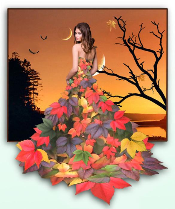 Как нарисовать девушку осень поэтапно карандашом, красками?  Девушка Осень Рисунок