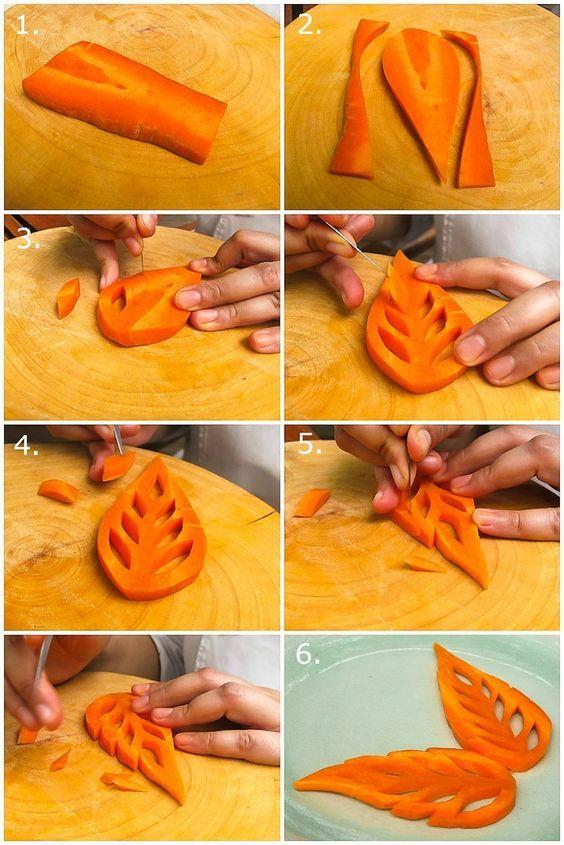 Сделать цветы из моркови своими руками 50
