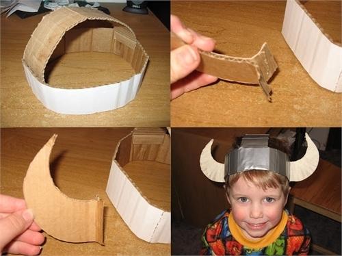 Как сделать шлем викинга