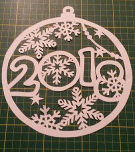 шаблон со снежинкой и цифрой