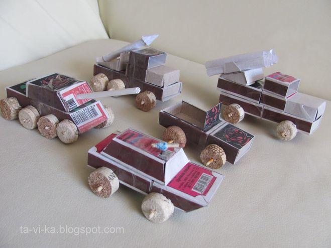 Машины из спичечных коробок своими руками