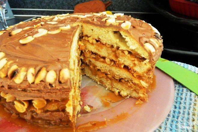 Сникерс торт в домашних условиях