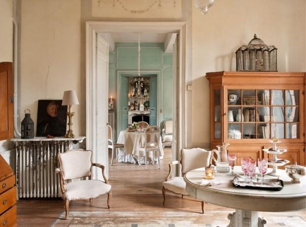 дизайн интерьера прованс квартира гостиная фото