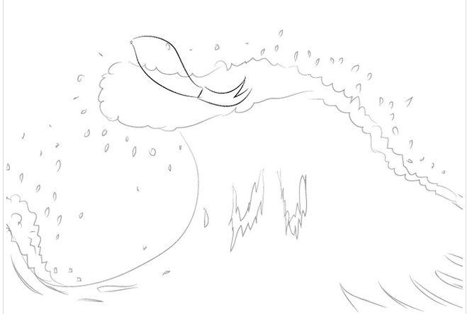 нарисовать Сказку о рыбаке и рыбке