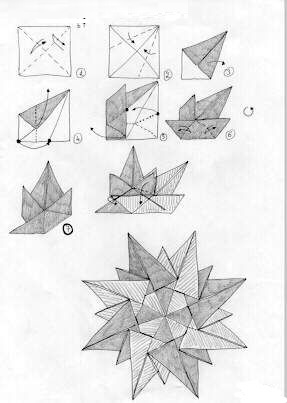 Как сделать компас из бумаги оригами