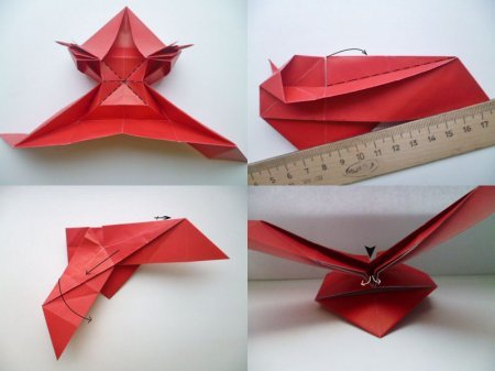 Как сделать валентинку оригами фото