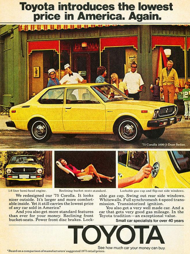 реклама тойота 1978