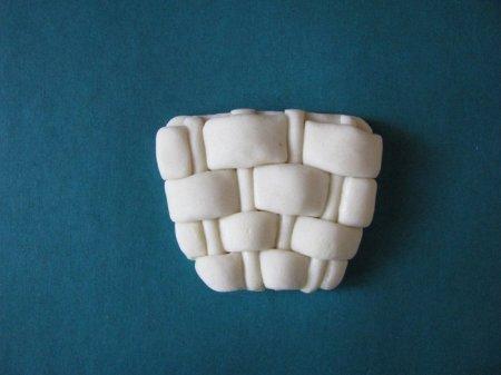 поделка корзина с грибами из соленого теста мастер-класс