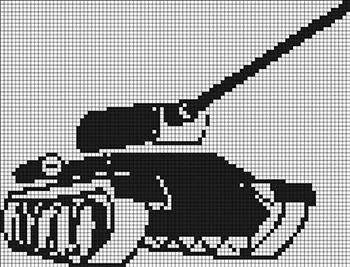 поделки из термомозаики 3D на 9 мая своими руками схема танк