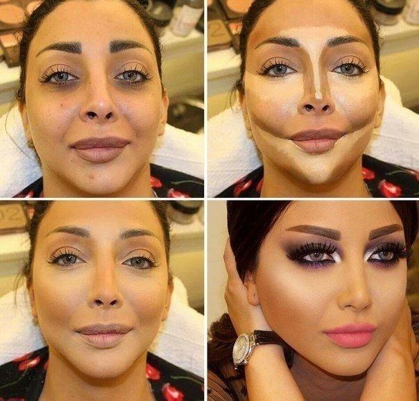 как исправить кривой нос с помощью косметики