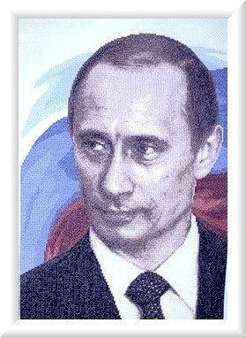портрет Путина крестиком схема