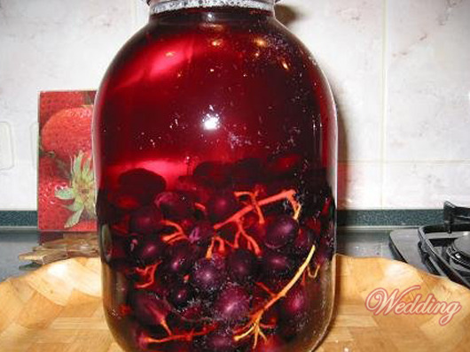 Компот из винограда изабелла в домашних условиях