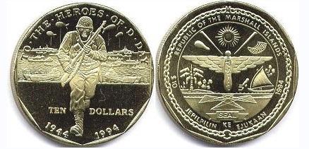 Маршалловы о-ва, 10 долларов 1994 года