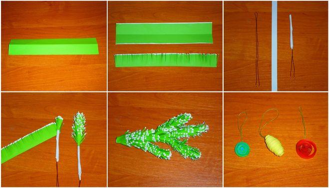 Как сделать цветные веточки