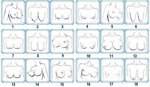 фото грушевидная форма груди
