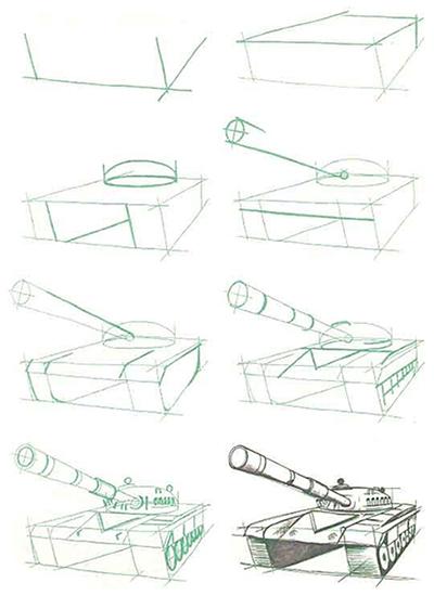 Как сделать рисунок о Великой Отечественной войне карандашами, красками