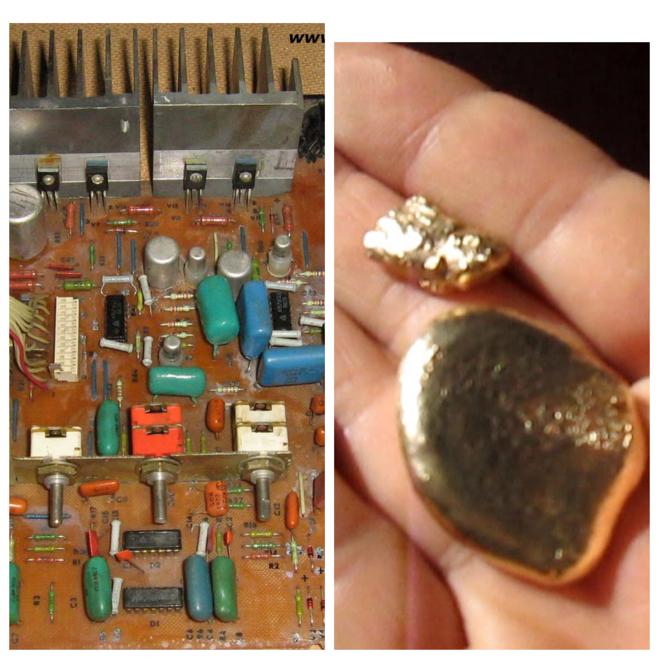 может ли на контактах конденсатора быть золото