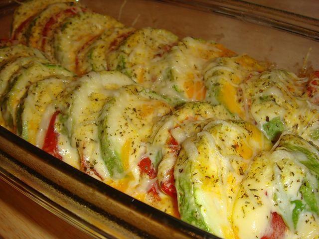 Кабачки запеченные с овощами рецепт